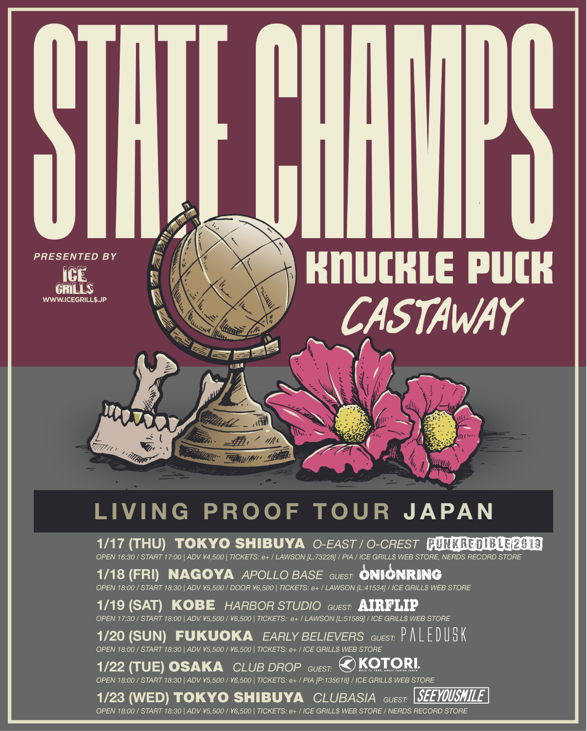 ice grill$ pre. STATE CHAMPS,KNUCKLE PUCK japan tour